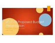 2017-18 Proposed Budget Presentation