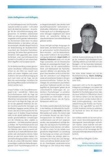 Psychotherapeutenjournal 1/2006 (.pdf)