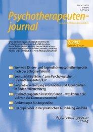 Psychotherapeutenjournal 2/2007 (.pdf)