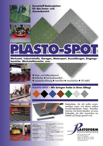 bereiche, Werkstattbereiche, usw. PLASTO-SPOT