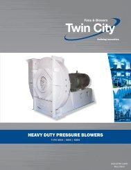 MBO-MBR-MBW - Heavy Duty Pressure Blowers - Catalog