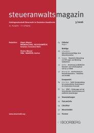 steueranwaltsmagazin 3 /2006 - Wagner-Joos Rechtsanwälte