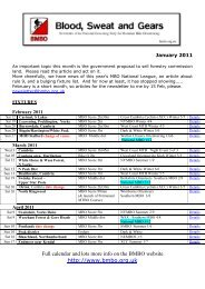 Full calendar and lots more info - British Mountain Bike Orienteering