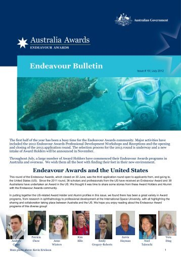 Endeavour Awards and the United States - Department of Innovation ...