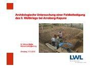 Archäologische Untersuchung einer Feldbefestigung des II ...