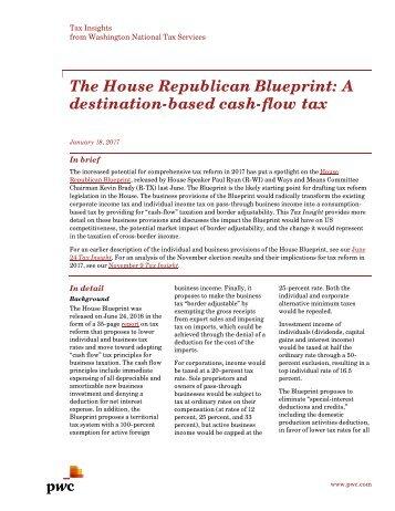 Seraphim blueprint the house republican blueprint a destination based cash flow tax malvernweather Gallery