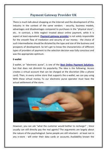 Payment Gateway Provider UK