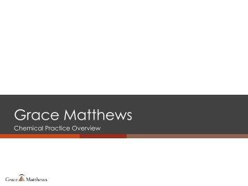 Industry Experience - Grace Matthews, Inc.