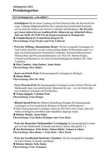 Preiskategorien: - derWALDSEEer