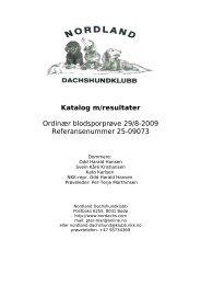 Katalog m/resultater - Nordland Dachshundklubb