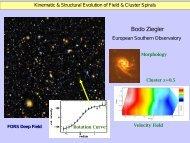 Bodo Ziegler - AMIGA : Analysis of the interstellar Medium of ...