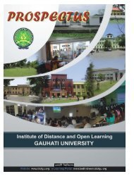 Vice-Chancellor GAUHATI UNIVERSITY - Institute of Distance and ...