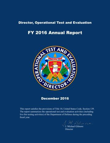 FY 2016 Annual Report