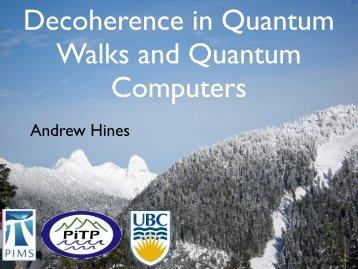 Quantum Information and Many-Body Physics Workshop, UBC Dec ...