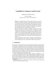 Capabilities for Uniqueness and Borrowing⋆ - LAMP - EPFL