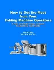 How to Get the Most from Your Folding Machine ... - Technifold USA