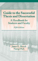 Guide to the Successful Thesis and Dissertation