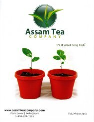Assam Tea Co. 2011 Catalog