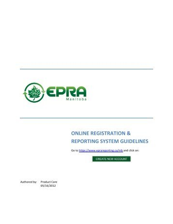 online registration & reporting system guidelines - Login Page