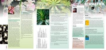 Newsletter 12, Autumn 2007 (PDF 0.8 MB - Plant Science Center