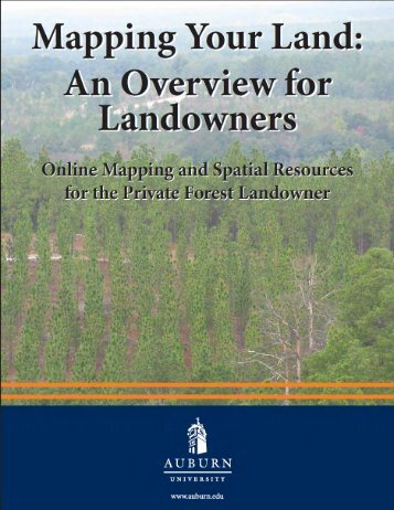 Mapping Your Land: An Overview for Landowners. Online