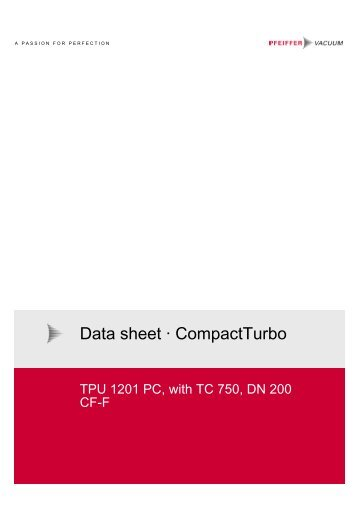 Data Sheet CompactTurbo TPU 1201 PC With TC