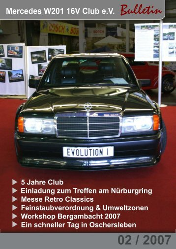 Mercedes W201 16V Club e.V. Bulletin - Mercedes-Benz W201 16V ...