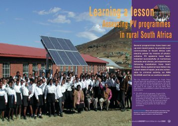 Learning a lesson - Renewables 4 Africa