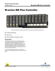 M-series MD Plus Controller - Emerson Process Management