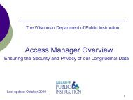 WI, Access Manager Overview - Data Quality Campaign