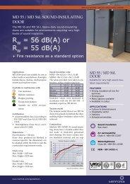 Productsheet MD 55 en MD 56L door - Merford Special Doors