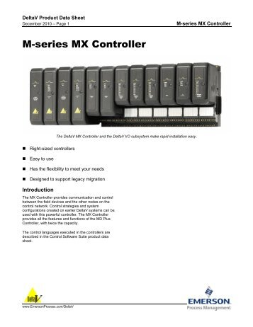 M-series MX Controller - Emerson Process Management