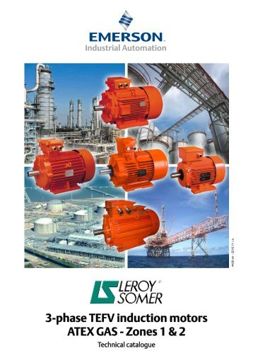 3-phase TEFV induction motors ATEX GAS - Zones 1 & 2
