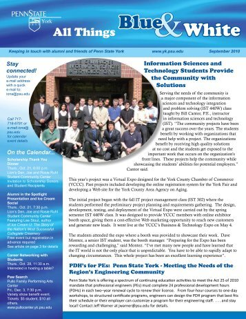 Wigbels Receives Prestigious Award - Penn State York