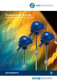 SKS Sensors® Temperature Sensors - Production Program and ...