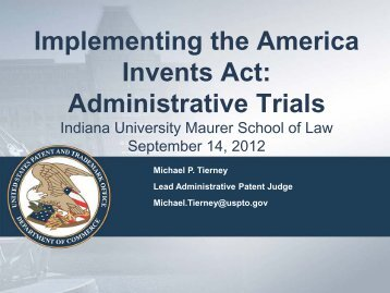 Indiana University Maurer School of Law - U.S. Patent and ...
