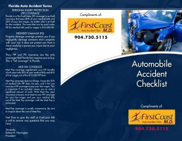 Automobile Accident Checklist - FirstCoast MD