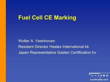 Fuel Cell CE Marking