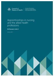 Apprenticeships in nursing and the allied health professions