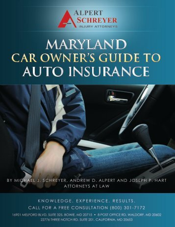 MARYLAND AUTO INSURANCE - Alpert Schreyer