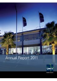 Download the 2011 Annual Report - GMHBA Health Insurance