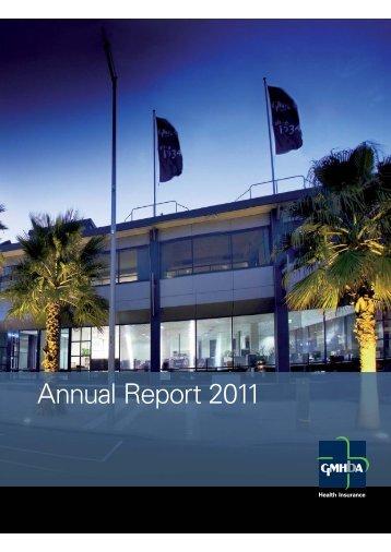 Download the 2011 Annual Report - GMHBA Health Insurance