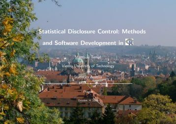 Statistical Disclosure Control: Methods and Software Development in