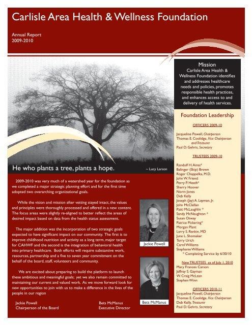 Grants Foundation Initiatives Carlisle Area Health Wellness