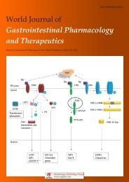 World Journal of Gastrointestinal Pharmacology and Therapeutics