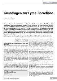 Grundlagen zur lyme-Borreliose - UMG-Verlag