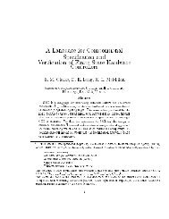 A Language for Compositional Specification and Verification of ...