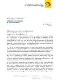 ZVEH Herrn Manfred Behrens, MdB Deutscher ... - Elektropraktiker