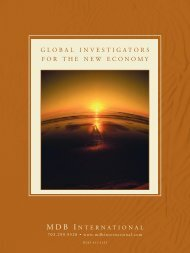 MDB International Corporate Capabilities Brochure