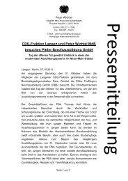 CDU-Fraktion Langen und Peter Wichtel MdB besuchen Pittler ...